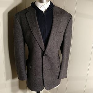 JoS.A.Bank 100% Camel Hair Charcoal Blazer